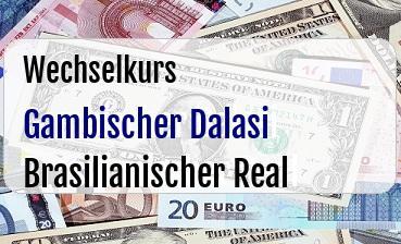 Gambischer Dalasi in Brasilianischer Real