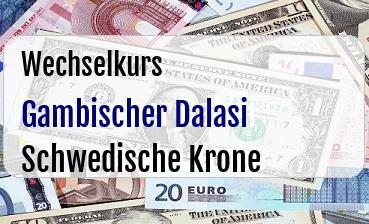 Gambischer Dalasi in Schwedische Krone