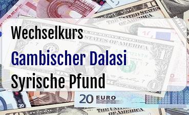 Gambischer Dalasi in Syrische Pfund