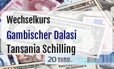 Gambischer Dalasi in Tansania Schilling