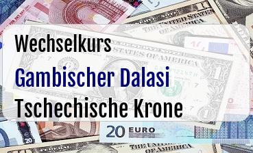 Gambischer Dalasi in Tschechische Krone