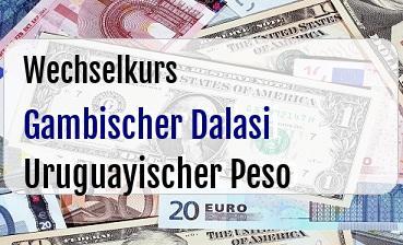 Gambischer Dalasi in Uruguayischer Peso