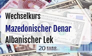 Mazedonischer Denar in Albanischer Lek