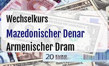 Mazedonischer Denar in Armenischer Dram