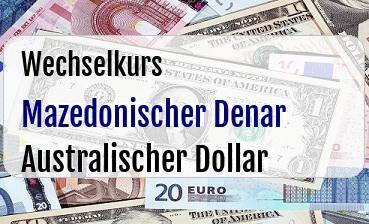 Mazedonischer Denar in Australischer Dollar