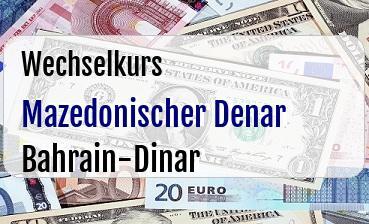 Mazedonischer Denar in Bahrain-Dinar