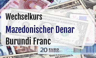Mazedonischer Denar in Burundi Franc