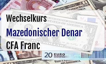 Mazedonischer Denar in CFA Franc
