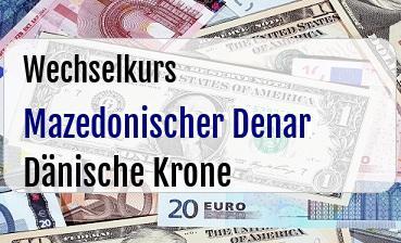 Mazedonischer Denar in Dänische Krone