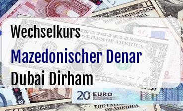 Mazedonischer Denar in Dubai Dirham