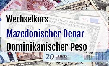 Mazedonischer Denar in Dominikanischer Peso