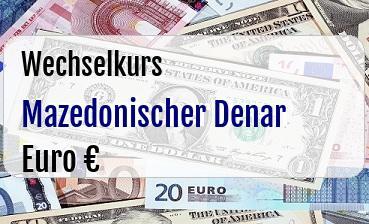Mazedonischer Denar in Euro