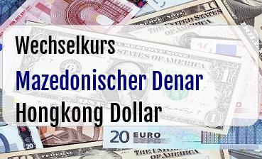 Mazedonischer Denar in Hongkong Dollar