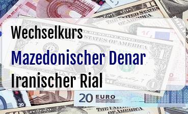 Mazedonischer Denar in Iranischer Rial