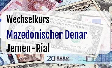 Mazedonischer Denar in Jemen-Rial