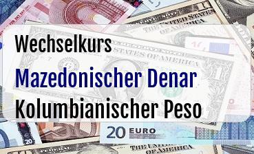 Mazedonischer Denar in Kolumbianischer Peso
