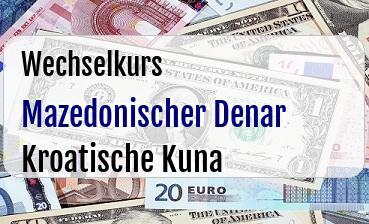 Mazedonischer Denar in Kroatische Kuna
