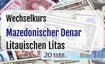 Mazedonischer Denar in Litauischen Litas