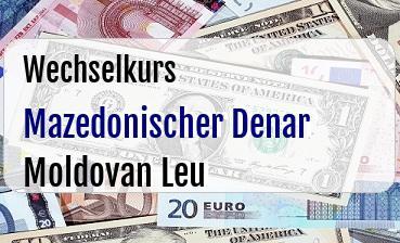 Mazedonischer Denar in Moldovan Leu