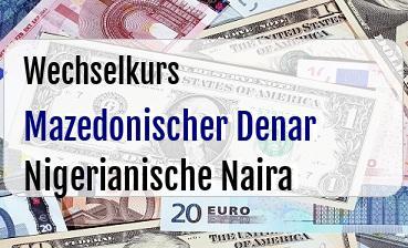 Mazedonischer Denar in Nigerianische Naira