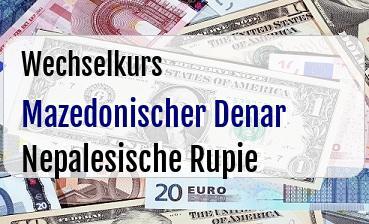 Mazedonischer Denar in Nepalesische Rupie