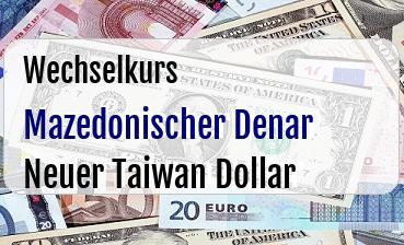 Mazedonischer Denar in Neuer Taiwan Dollar