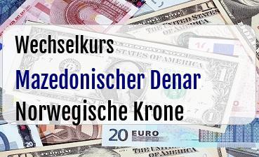 Mazedonischer Denar in Norwegische Krone