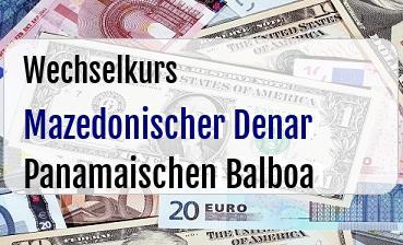 Mazedonischer Denar in Panamaischen Balboa
