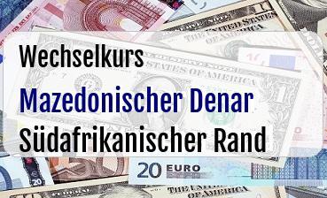 Mazedonischer Denar in Südafrikanischer Rand