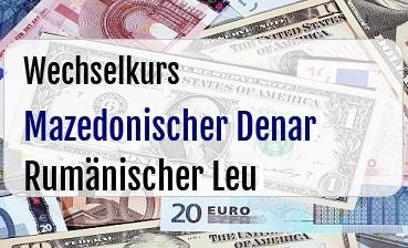 Mazedonischer Denar in Rumänischer Leu