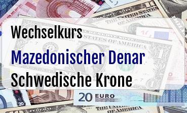 Mazedonischer Denar in Schwedische Krone