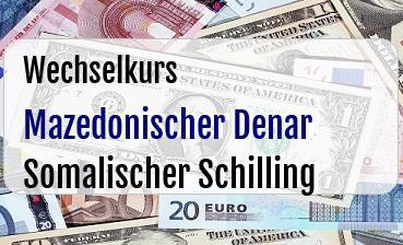 Mazedonischer Denar in Somalischer Schilling