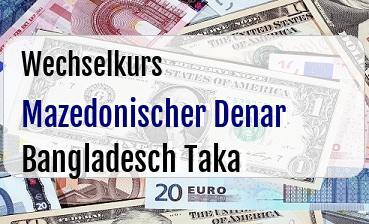Mazedonischer Denar in Bangladesch Taka