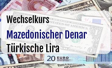 Mazedonischer Denar in Türkische Lira