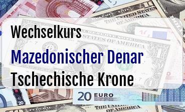 Mazedonischer Denar in Tschechische Krone