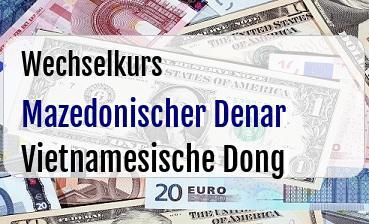 Mazedonischer Denar in Vietnamesische Dong