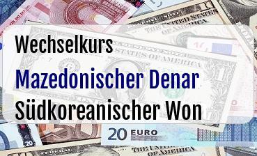 Mazedonischer Denar in Südkoreanischer Won