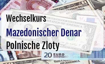 Mazedonischer Denar in Polnische Zloty