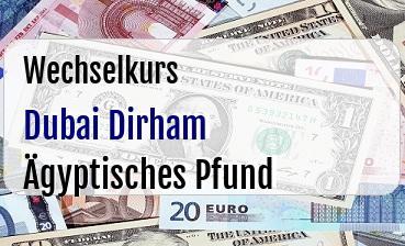 Dubai Dirham in Ägyptisches Pfund