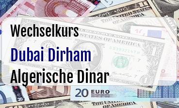 Dubai Dirham in Algerische Dinar