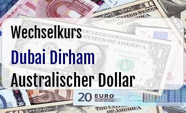 Dubai Dirham in Australischer Dollar