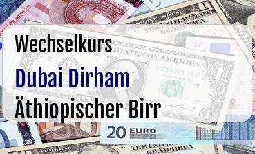 Dubai Dirham in Äthiopischer Birr