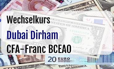 Dubai Dirham in CFA-Franc BCEAO