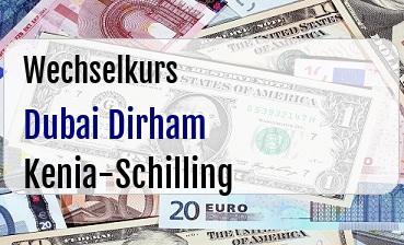 Dubai Dirham in Kenia-Schilling