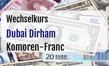 Dubai Dirham in Komoren-Franc