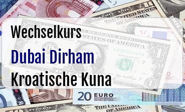 Dubai Dirham in Kroatische Kuna