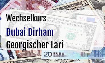 Dubai Dirham in Georgischer Lari