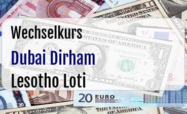 Dubai Dirham in Lesotho Loti