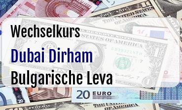 Dubai Dirham in Bulgarische Leva