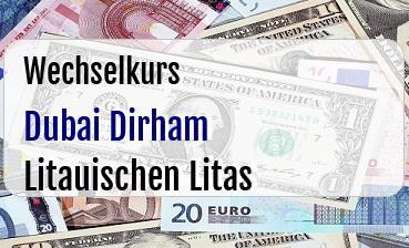 Dubai Dirham in Litauischen Litas